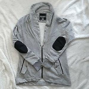 GENTLE FAWN grey 3/4 zip up cardigan sweater